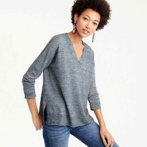 JCrew Pure Merino Wool Oversized V-Neck sweater